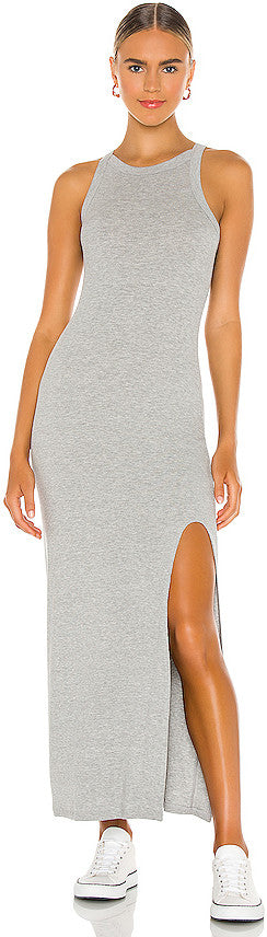 Candi Rib Dress - Heather Grey