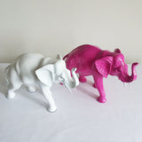 Elephant, resin, gloss painted