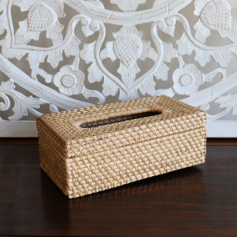 Basket, rattan, tissue holder