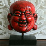 Buddha, laughing buddha head on stand