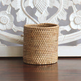 Baskets, rattan, natural