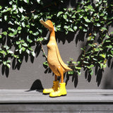 "Duck ""in boots"", wood, yellow"
