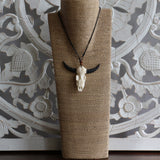 Necklace, bone, water buffalo