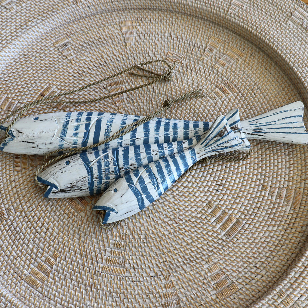 Fish, blue and white stripes