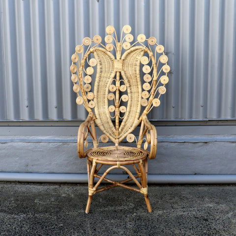 "Chair, ""Peacock"", rattan, No. 1"