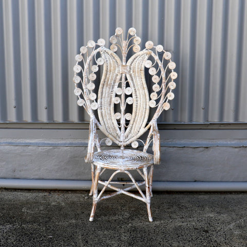 "Chair, ""Peacock"", rattan, No. 2"