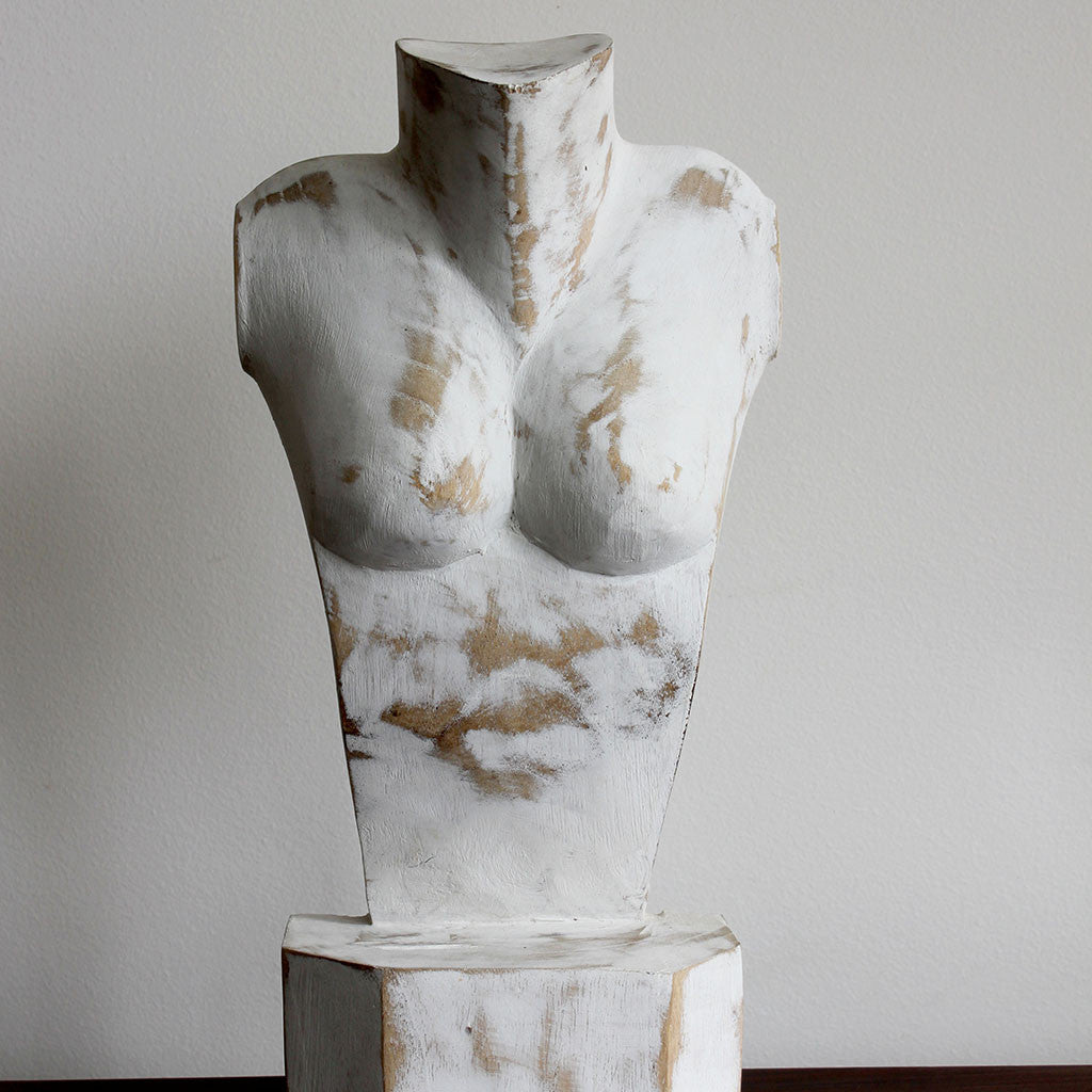 Jewellery bust wood, white washed. Sold out