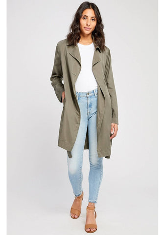 Gentle Fawn YQR Shop Local Boutique trench coat jacket spring fashion