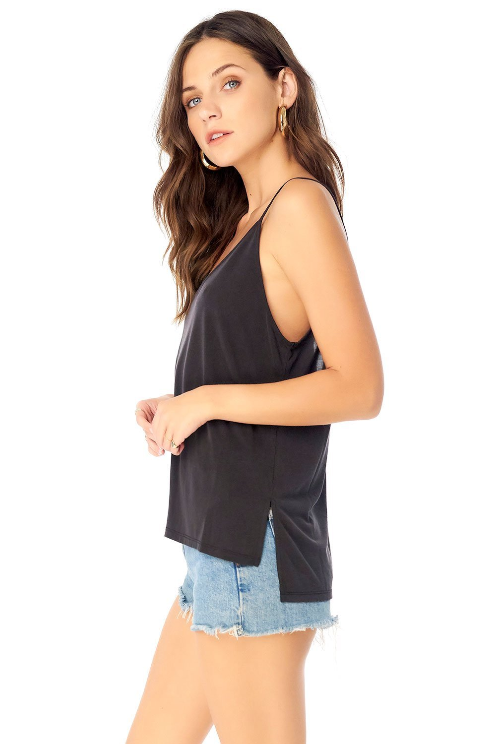 Basic V-Neck Low Back Tank-Tank Tops-Saltwater Luxe-Coda & Cade