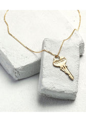 Dainty Key Necklace-Necklaces-Giving Keys-regina-saskatchewan-canada-Coda & Cade