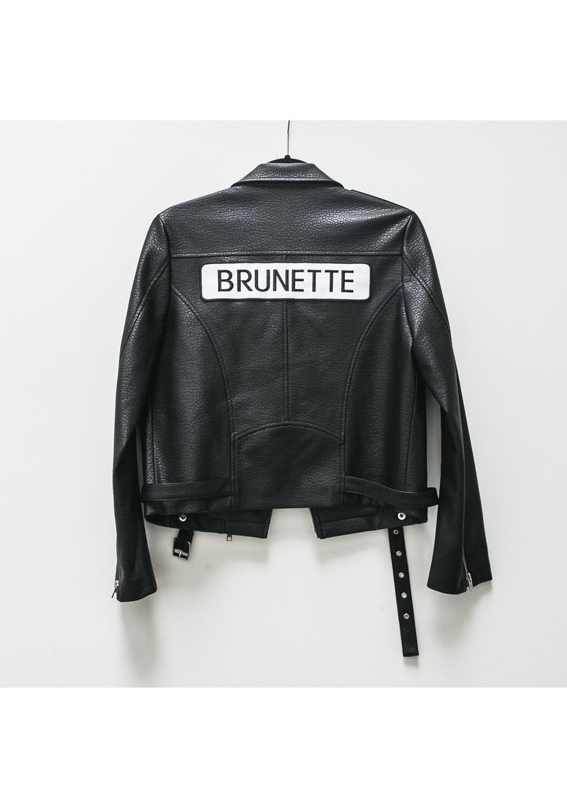 Florence Leather Moto Jacket - Brunette-Jackets & Coats-Brunette-[Regina]-[Saskatchewan]-[Blonde]-Coda & Cade
