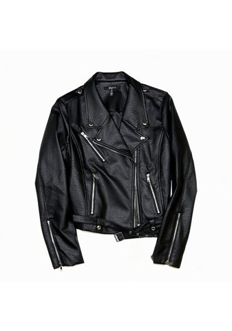 Florence Leather Moto Jacket-Jackets & Coats-Brunette-[Regina]-[Saskatchewan]-[Blonde]-Coda & Cade