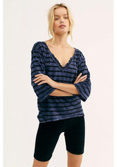 Head In The Clouds Stripe-V-Neck Tees-Free People-[Regina]-[Saskatchewan]-[Nordstrom]-Coda & Cade