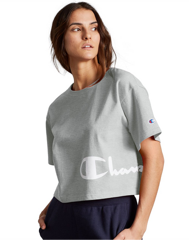 Heritage Cropped Tee - Wrap Around Script