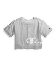 Heritage Cropped Tee - Wrap Around Script-Crewneck Tees-Champion Women-Coda & Cade