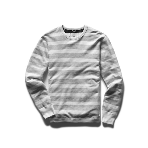 Knit Striped Terry Reversible Crewneck