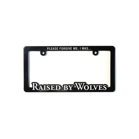License Plate Frame-Men's Accessories-Raised By Wolves-Coda & Cade