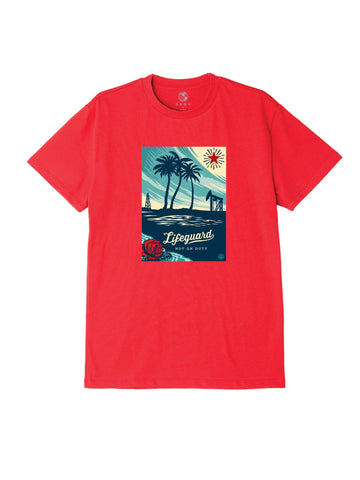 Lifeguard Not On Duty Recycled Organic Tee