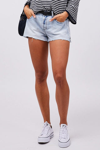 Mid Rise Trucker Relaxed Short
