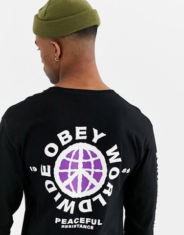 Peaceful Resistance Basic L/S-Tees-Obey-Coda & Cade