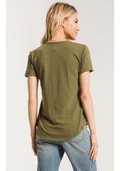 The Airy Slub Pocket Tee-V-Neck Tees-Z Supply-Coda & Cade