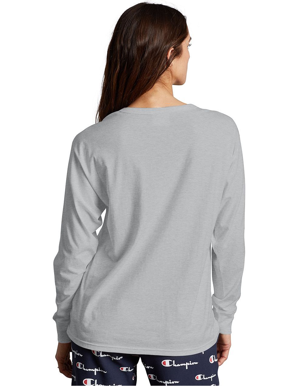 The Boyfriend L/S Tee - Direct Flock Script-L/S Top-Champion Women-Coda & Cade