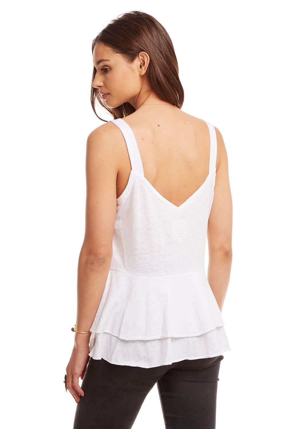 Tiered Peplum Cami-Tank Tops-Chaser-Coda & Cade