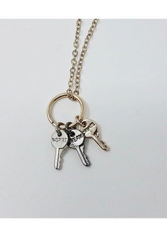 Tri Tone Ring Key Necklace