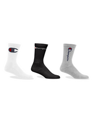 Women's Multi Logo Crew Sock-Hosiery & Socks-Champion Women-Coda & Cade