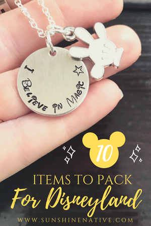 Top 10 Items To Pack For Disneyland