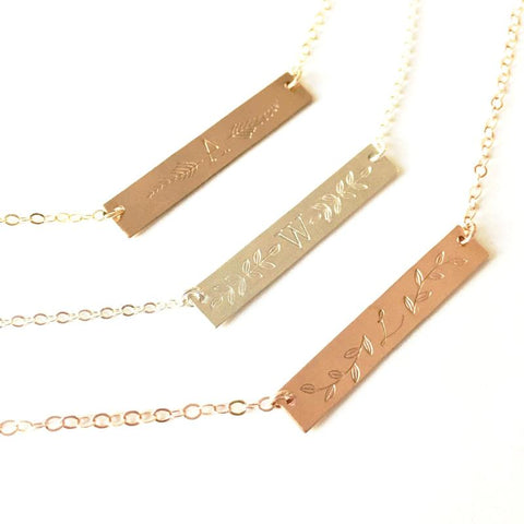 Custom Hand Stamped Necklaces