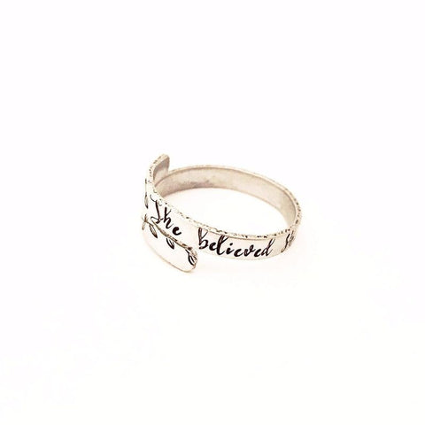 Custom Hand Stamped Rings