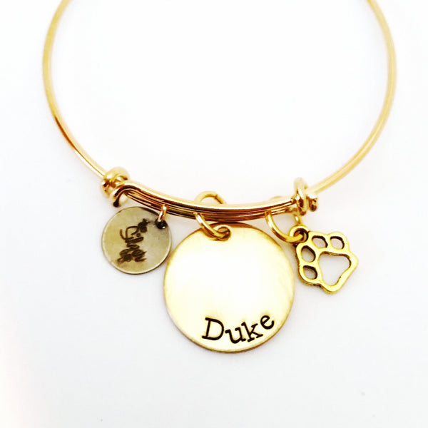 Pet Lovers Bangle | Meow! Woof!
