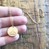 LDS Temple Silhouette Necklace
