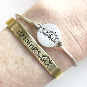 Raising Sunshine™ Cuffs | Motherhood Bracelet