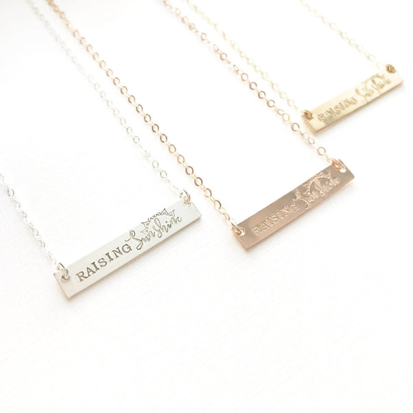 Raising Sunshine Bar Necklace