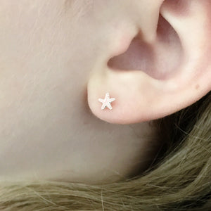 Sterling Tiny Starfish Earrings