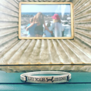 Let your Soul Shine Bangle Bracelet, all three