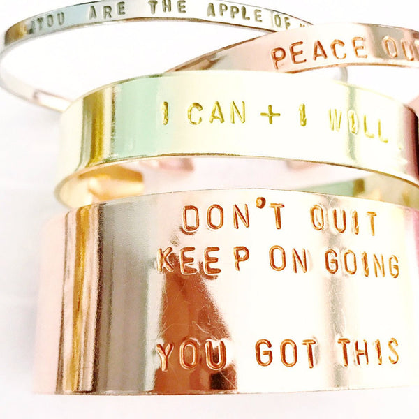 Apothecary Font Stacking Cuffs