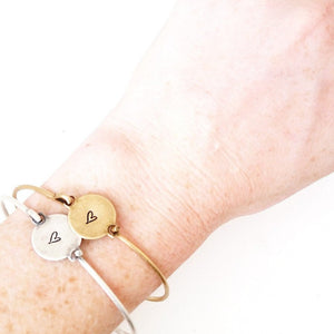 Whimsical Heart Bangle | Fun and fancy! Modeled
