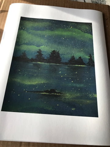 """Night Lake"" Art Print by Felix Ptak"