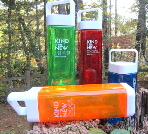 "Water Bottle: ""Kind is the New Cool"""