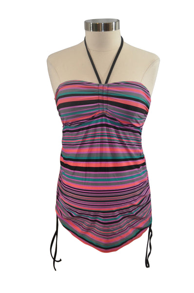 Multi-Color Stripe Swim Top Separate by Liz Lange