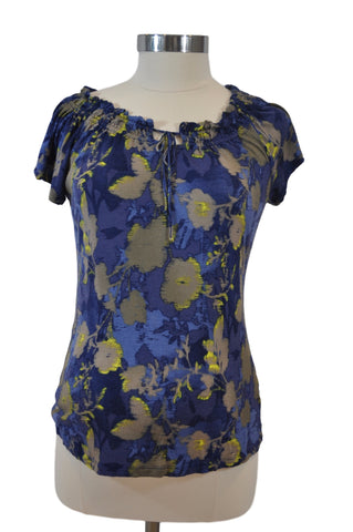 Blue Short Sleeve Top by Old Navy