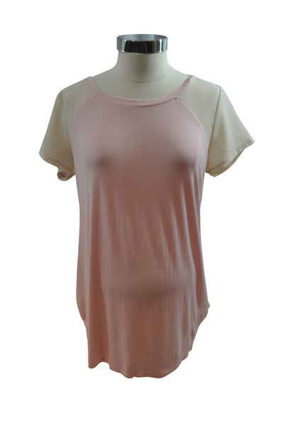 Pink Short Sleeve Top by Motherhood