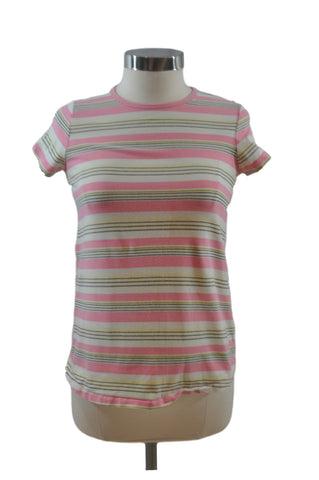 Pink Stripe Short Sleeve Top by New Additions
