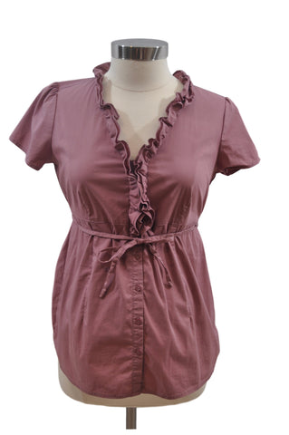 Mauve Short Sleeve Top by Motherhood