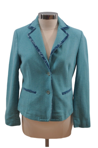 Blue Wool Blend Blazer by Mimi Maternity