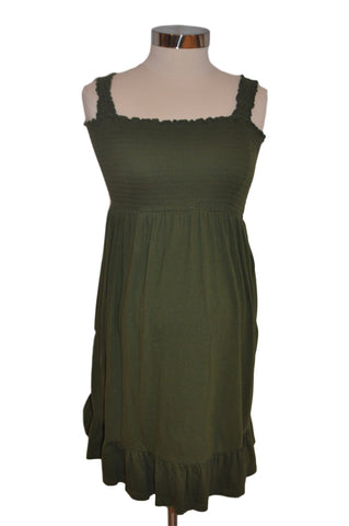 Green Babydoll Dress by OH BABY!