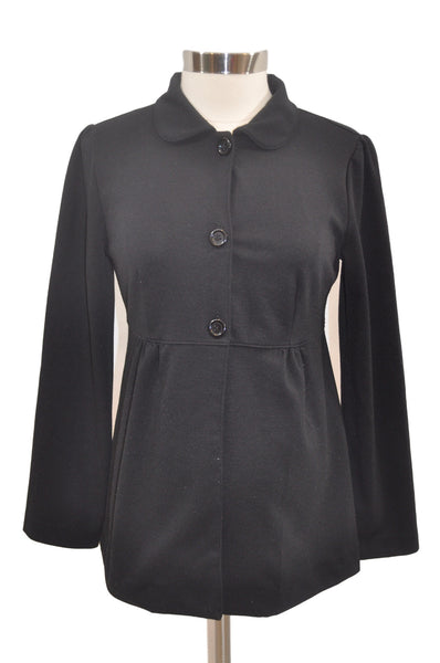Black Button Long Sleeve Blazer by Motherhood